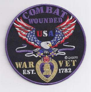 Combat Wounded War Vet Patches