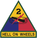 2nd Armored Division Combat Service ID Badges