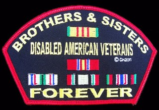 Brothers & Sisters Disabled American Veterans Patches