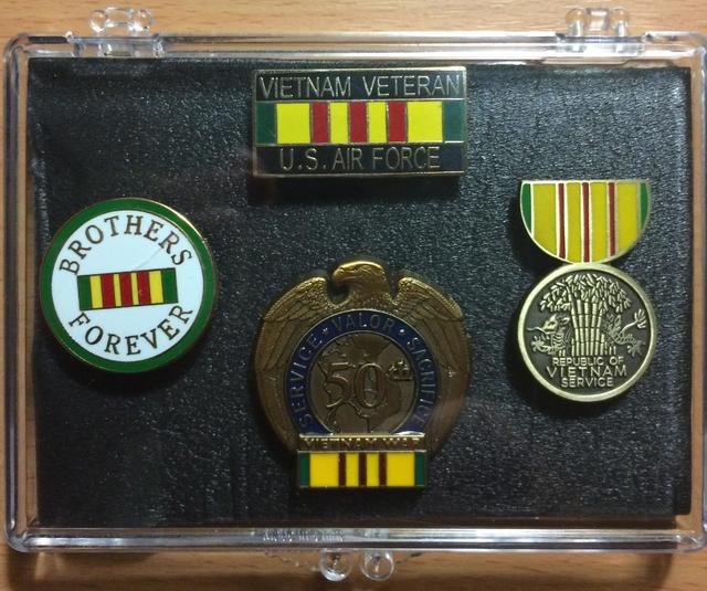 Air Force Vietnam Veteran Mini Display Cases