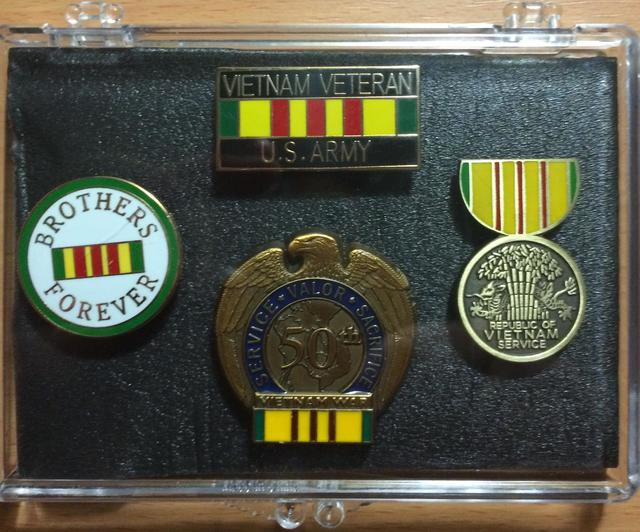 Army Vietnam Veteran Mini Display Cases