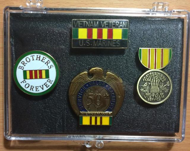 Marines Vietnam Veteran Mini Display Cases