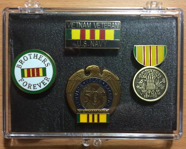 Navy Vietnam Veteran Mini Display Cases