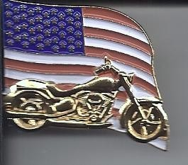 Flag Motorcycle Pins