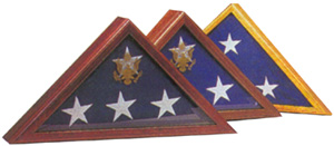 Flag Display Cases Walnut Case