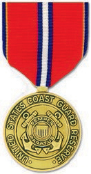 Coast Guard Reserve Good Conduct Anodized Full Size Medal