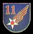 11th Air Force Hat Pins
