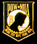 POW/MIA  (black) Hat Pins