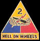 2nd Armored Division Army Hat Pins