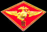 "2nd Marine Air Wing 1 1/8"" Marine Hat Pins"