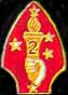 "2nd Marine Div 1 1/8"" Marine Hat Pins"