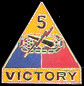5th Armored Division Army Hat Pins