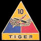 10th Armored Division Army Hat Pins