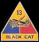 13th Armored Division Army Hat Pins