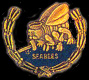 Cutout Seabees Wreath Navy Hat Pins