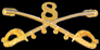 8th Cavalry Hat Pins