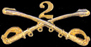 2nd Cavalry Hat Pins