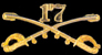 17th Cavalry Hat Pins