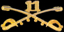 11th Cavalry Hat Pins