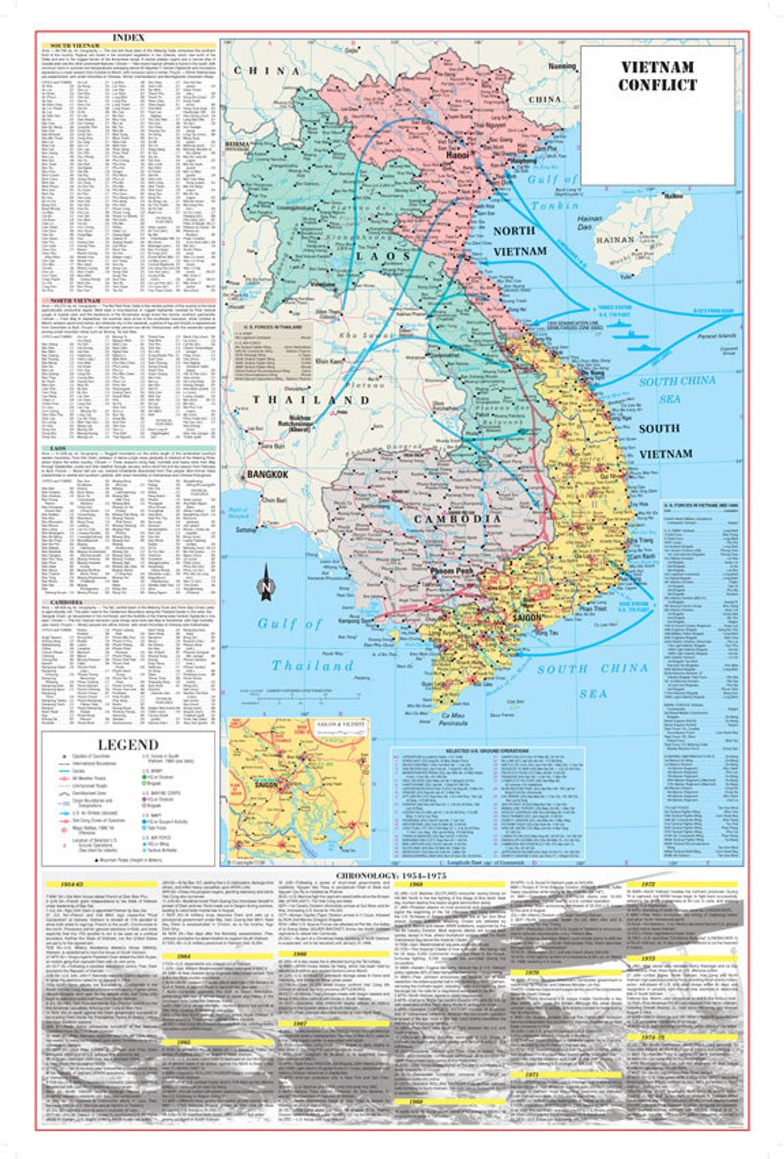 Vietnam War Conflict Map