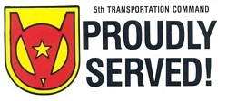 5th Transportation Command Bumper Stickers