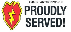25th Infantry Division Bumper Stickers