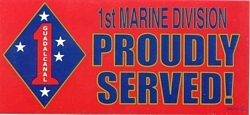 1st Marine Division Bumper Stickers