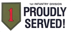 1st Infantry Division Bumpers Stickers