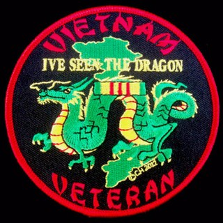 Vietnam Veteran I've Seen The Dragon Patches