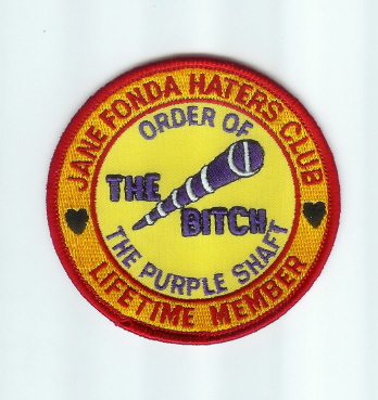Jane Fonda Haters Club Patches (Hanoi Jane)