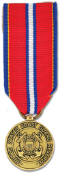 Coast Guard Reserve Good Conduct Anodized Mini Medal