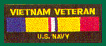 Vietnam Veteran US Navy Patches