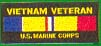 Vietnam Veteran USMC Patches