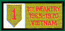 1st Infantry Division Vietnam Patches