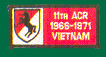 11th Armored Cavalry Regiment Vietnam Patches