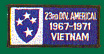 23rd Infantry Division Americal Vietnam Patches