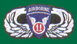 11th Airborne Wings Patches