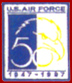 US Air Force 50th Anniversay Patches