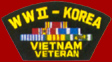 WW II Korea Vietnam Veteran Patches