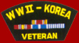 WW II Korea Veteran Patches