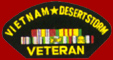 Vietnam Desert Storm Veteran Patches