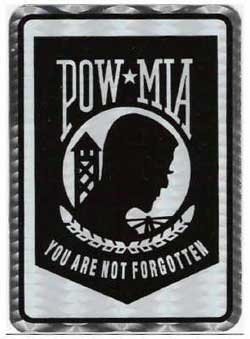 Holographic POW/MIA decals