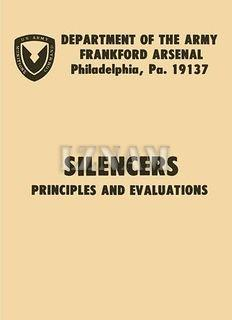 Silencers, Principles & Evaluations Military Manuals