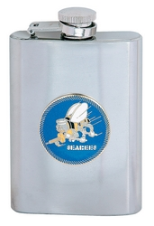 US Navy Seabees Flasks (8oz)