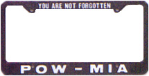 POW/MIA License Plate Frames