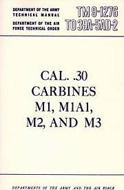 .30 Caliber Carbines Military Manuals