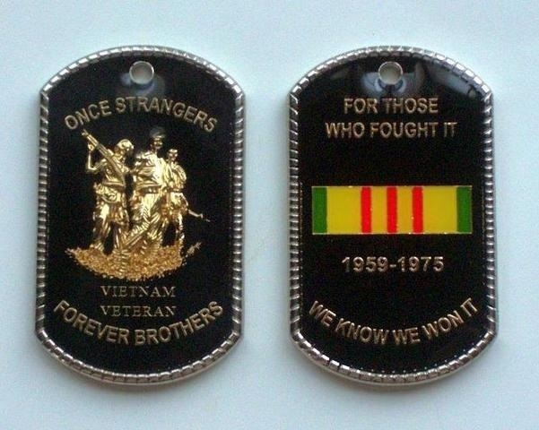 Vietnam Veteran Tribute Dog Tag Medallions
