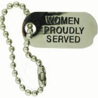 Women Proudly Served Dog Tag pins