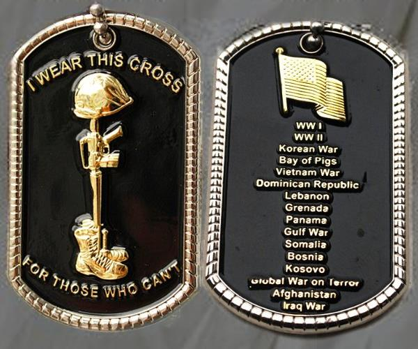 Battlefield Cross Dog Tag