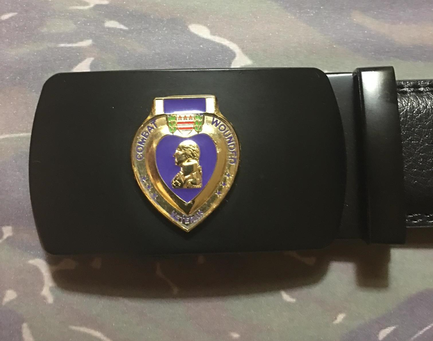 Purple Heart Ratchet Belt/Buckle